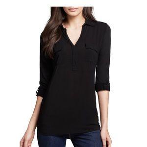 Splendid Black Pocket Henley Shirt Size Small